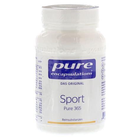PUR Encapsulations – Sport Pure 365 plus 20 Kapseln Magnesium gratis